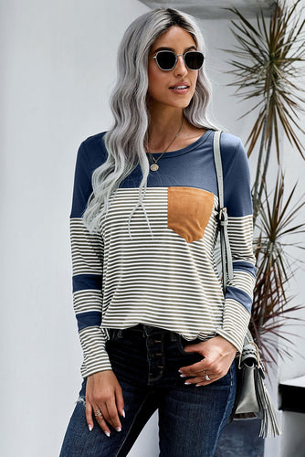 Pinstripe Patch Pocket Top
