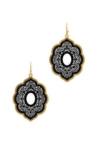 Modern Chic Two Tone Drop Earring