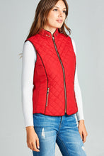 Load image into Gallery viewer, Faux Shearling Lined Quilted Padding Vest