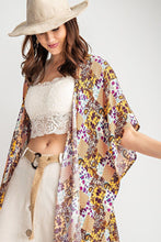 Load image into Gallery viewer, Rayon Challis Ruffle Bottom Maxi Open Kimono