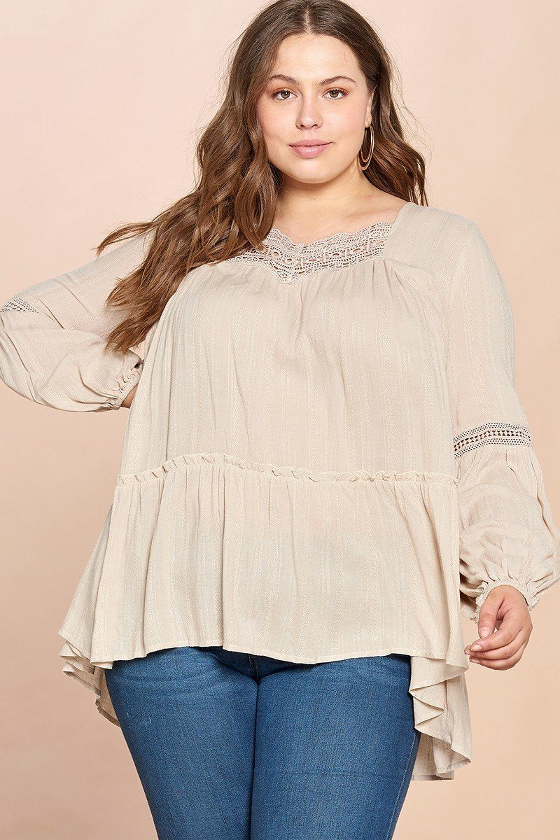 Solid Woven Loose-fit Tunic