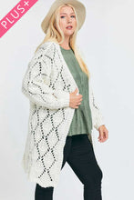 Load image into Gallery viewer, Textured Long Sleeve Long Cardigan