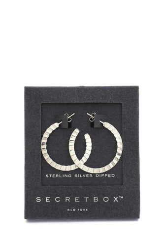 Secret Box Open Hoop Earring