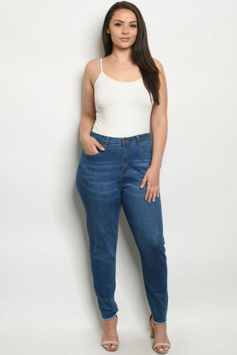 Blue Denim Medium Wash Jeans