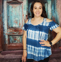 Load image into Gallery viewer, Denim Blue Tie Dye Tunic
