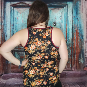 Tanned & Tipsy Printed Tank Top