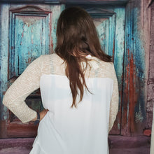 Load image into Gallery viewer, Cream Colored Blouse Fall
