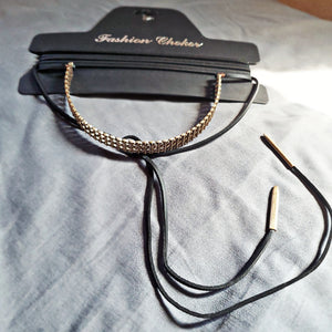 Black and Gold Fashion Choker