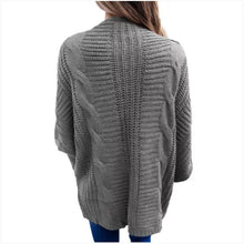 Load image into Gallery viewer, Gray Dolman Sleeved Cardigan