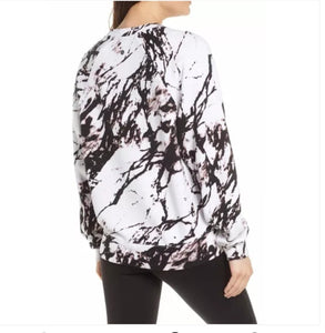Marble Print Sweater