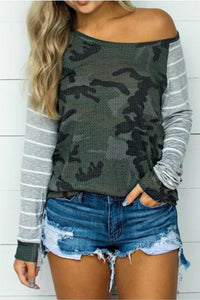 Camo Striped Blouse