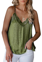 Load image into Gallery viewer, Spaghetti Strap Printed Lace Tank Top