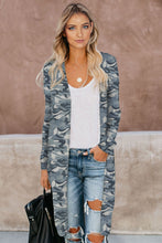 Load image into Gallery viewer, Camo Print Long Cardigan