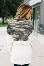 Load image into Gallery viewer, Fuzzy Pullover with Camo Detail