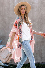 Load image into Gallery viewer, Waterfall Short Sleeve Floral Print Cardigan