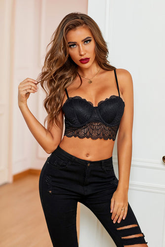 Cropped Lace Bralette Lingerie