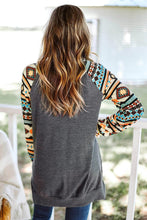 Load image into Gallery viewer, Tribal Print Waffle Knit Pullover with Side Slit