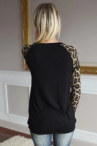 Round Neck Sequin Long Sleeve Top