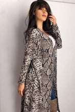Load image into Gallery viewer, Snake Print Long Cardigan