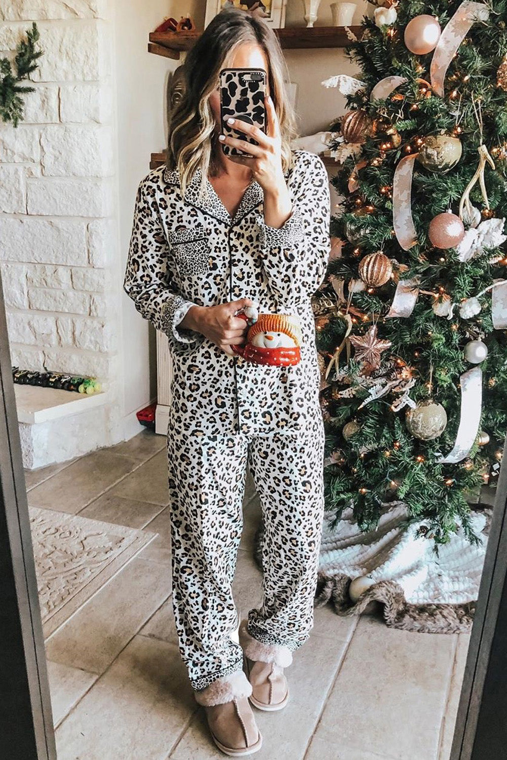 Print Long Sleeve Two Pieces Loungewear