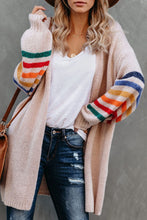 Load image into Gallery viewer, Striped Balloon Sleeve Cardigan