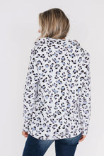 Load image into Gallery viewer, Warm Quarter Zip Leopard Sweatshirt