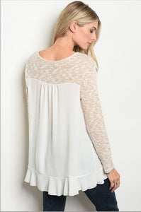 Cream Colored Blouse Fall