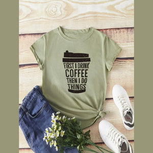 Coffee Green Graphic Tshirt