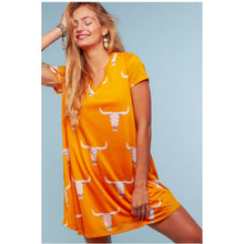Load image into Gallery viewer, Orange Western Dress