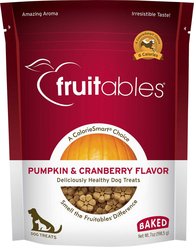 Fruitables Crunchy Pumpkin & Cranberry Dog Treats
