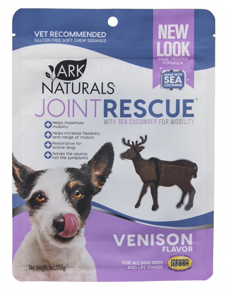 Ark Naturals Sea Mobility Joint Rescue Venison Recipe Jerky Treats