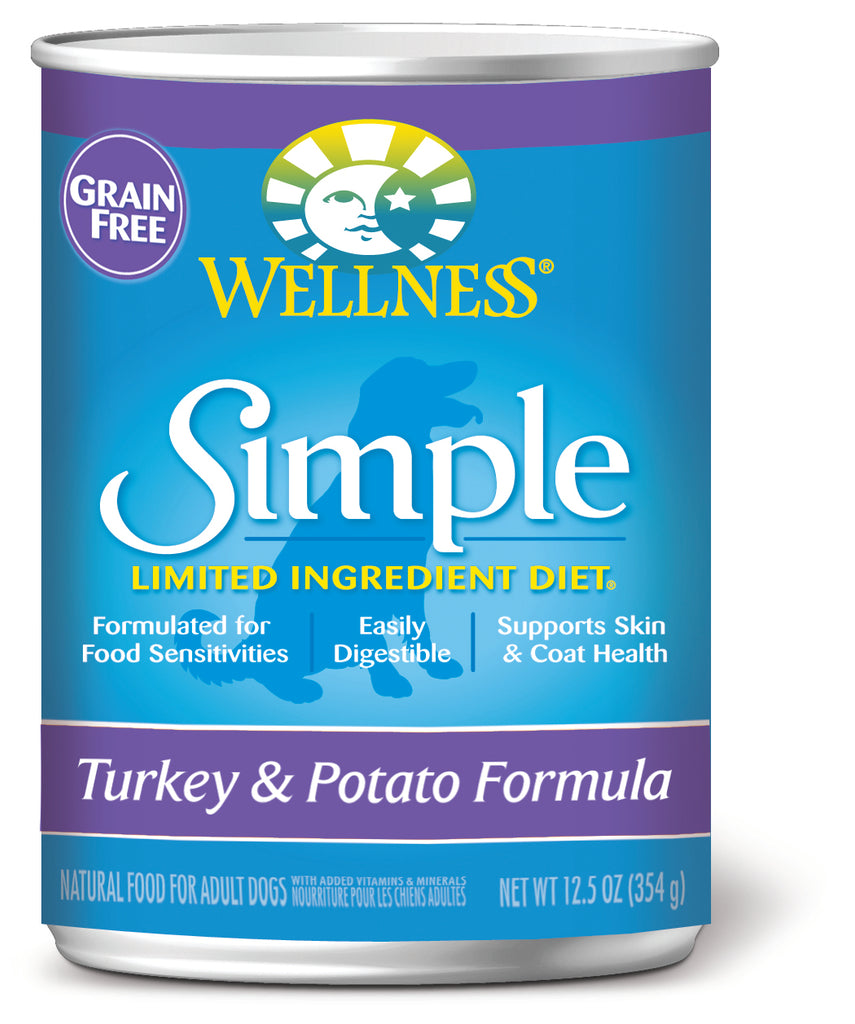 Wellness Simple Natural Limited Ingredient Diet Turkey and Potato Recipe Wet Canned Dog Food