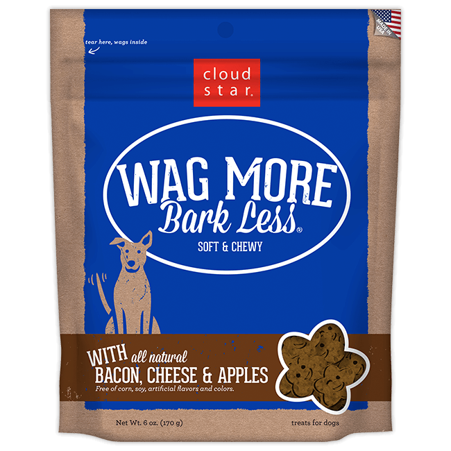 Cloud Star Wag More Bark Less Soft and Chewy Bacon Cheese and Apples Dog Treats