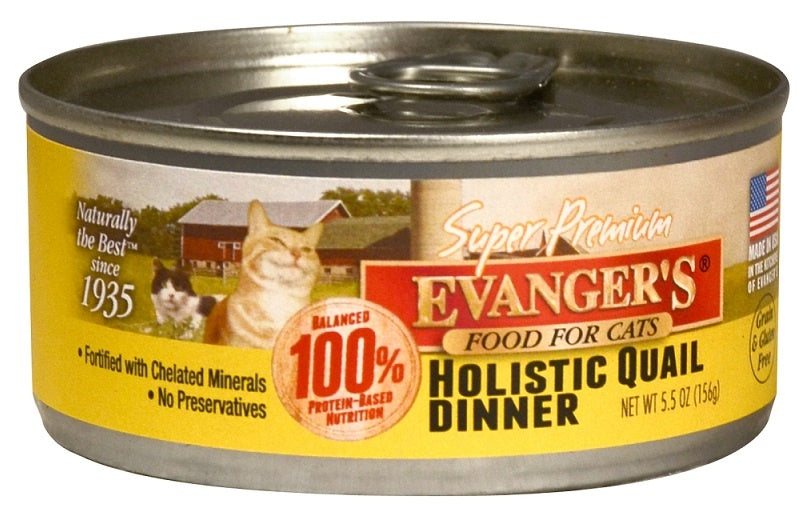 Evangers Super Premium Holistic Quail Dinner Canned Cat Food