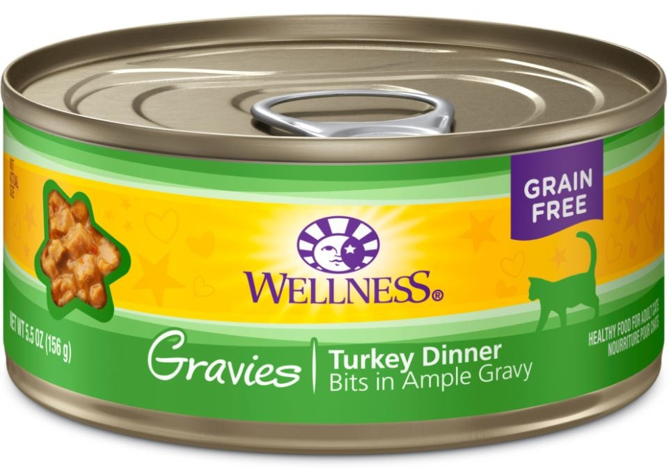 Wellness Natural Grain Free Gravies Turkey Dinner Canned Cat Food