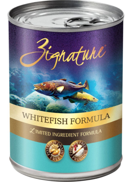 Zignature Limited Ingredient Diet Grain Free Whitefish Recipe Canned Dog Food