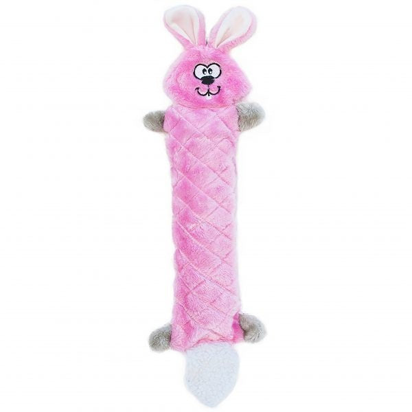 ZippyPaws Jigglerz Bunny No Stuffing Plush Dog Toy