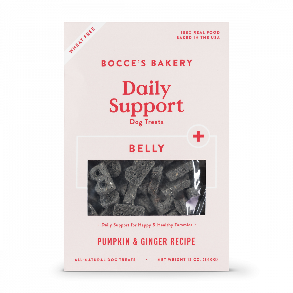 Bocce's Bakery Daily Support Pumpkin & Ginger Recipe Functional Belly Biscuit Dog Treats