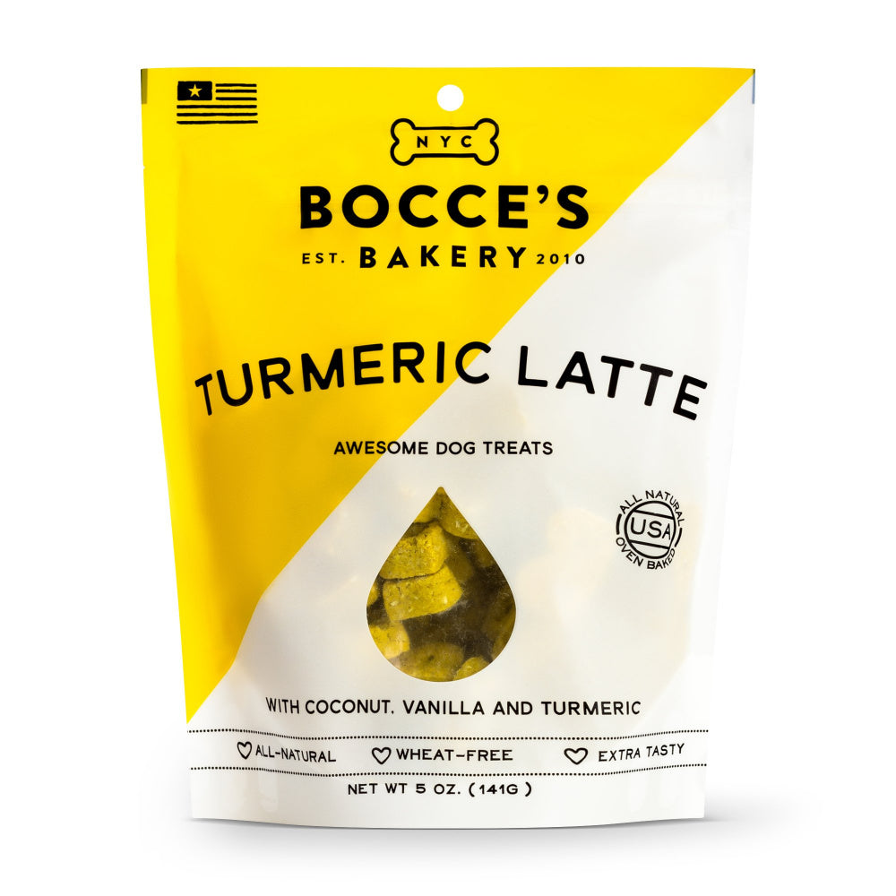 Bocce's Bakery Turmeric Latte Recipe Biscuit Dog Treats