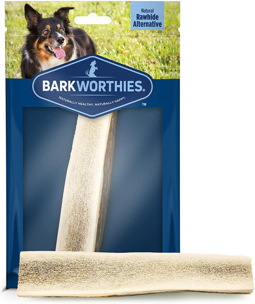 Barkworthies Split Elk Antler Dog Chew for Medium Breed Dogs
