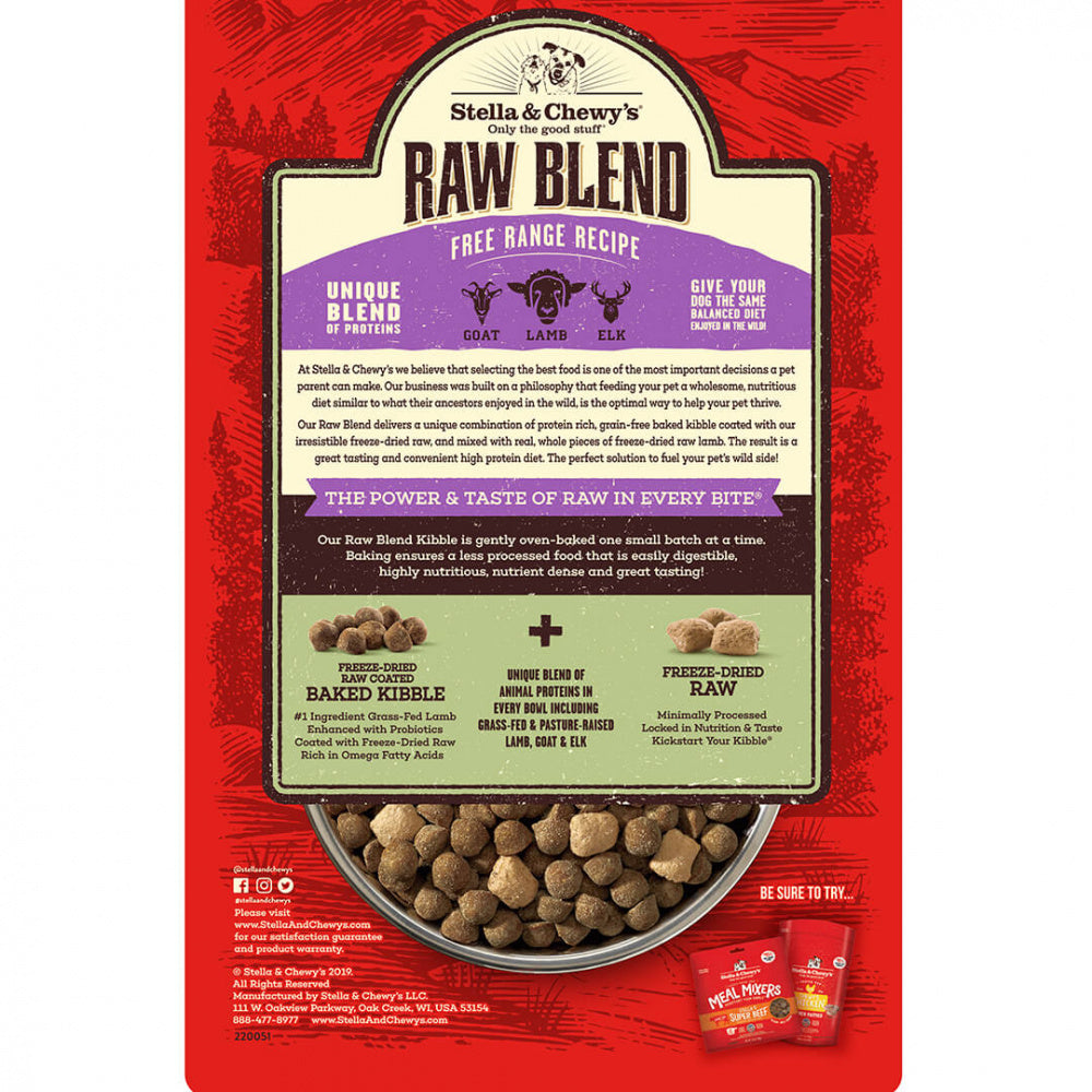 Stella & Chewy's Raw Blend Kibble Free Range Recipe Dry Dog Food