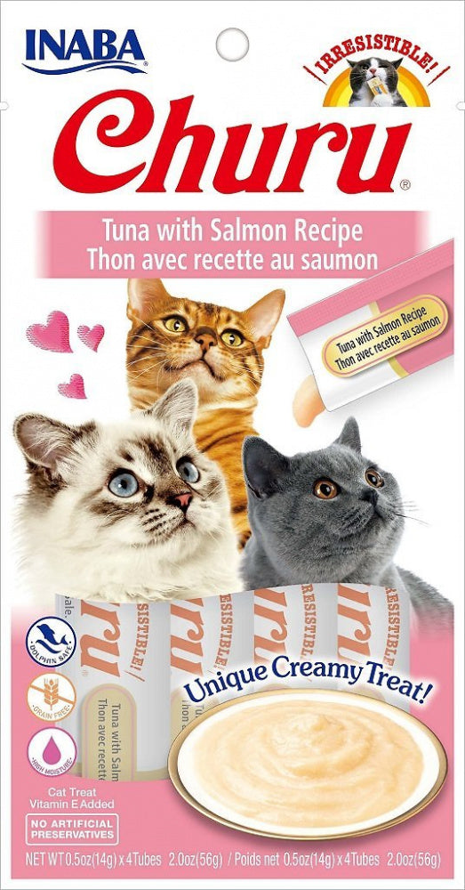 Inaba Churu Tuna with Salmon Puree Recipe Cat Treat