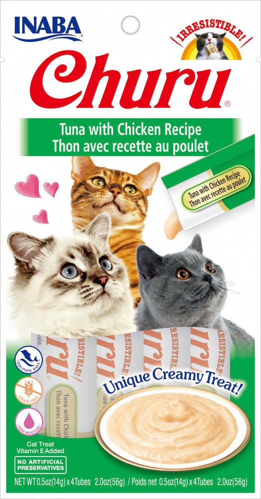 Inaba Churu Tuna with Chicken Puree Recipe Cat Treat