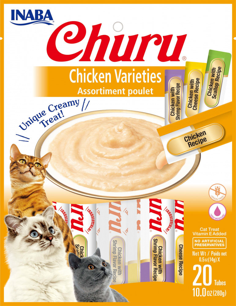 Inaba Churu Chicken Puree Cat Treats Variety Pack