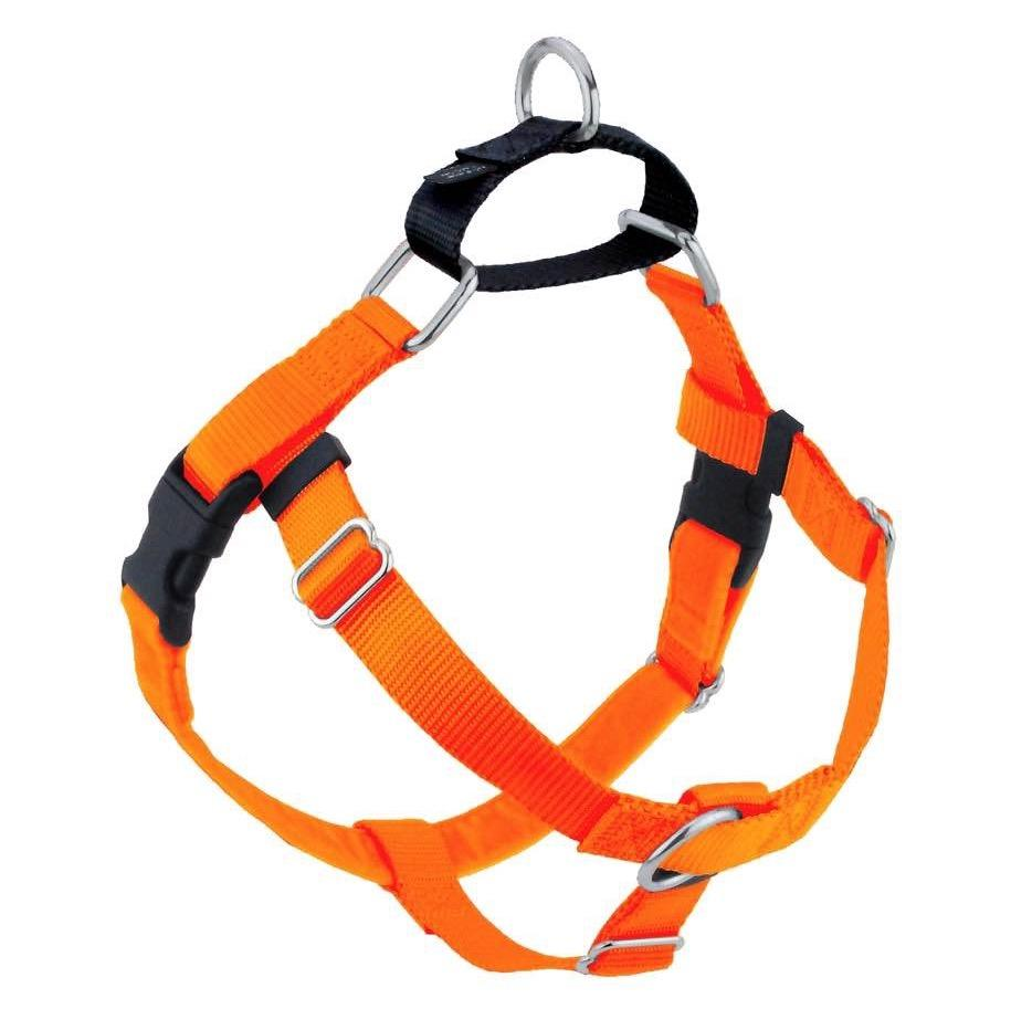 2 Hounds Design Freedom No-Pull Dog Harness - Neon Orange