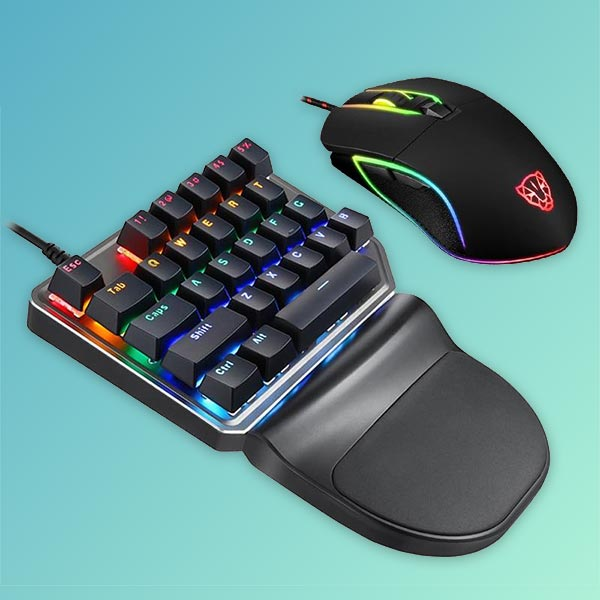 Rupture Series One Handed Mechanical Gaming Keyboard & LED Mouse