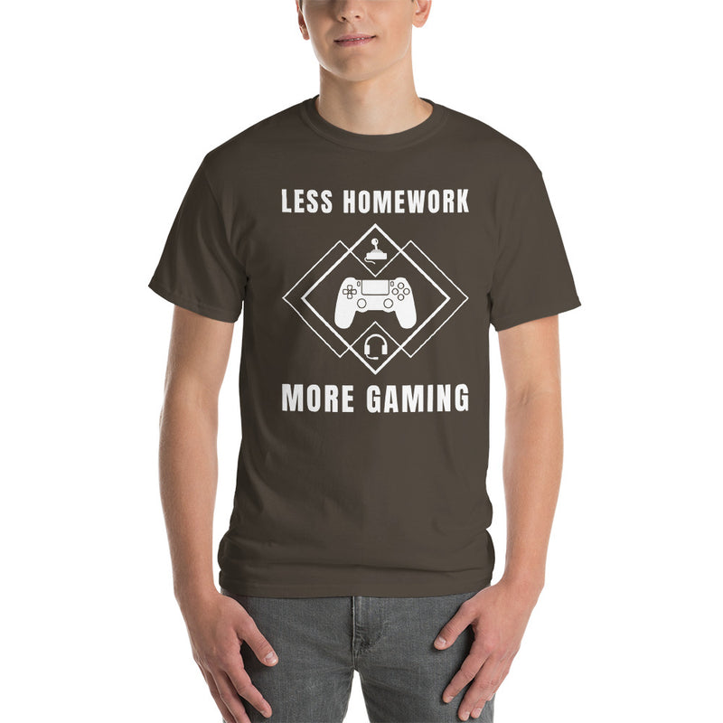 Less Homework More Gaming T-Shirt
