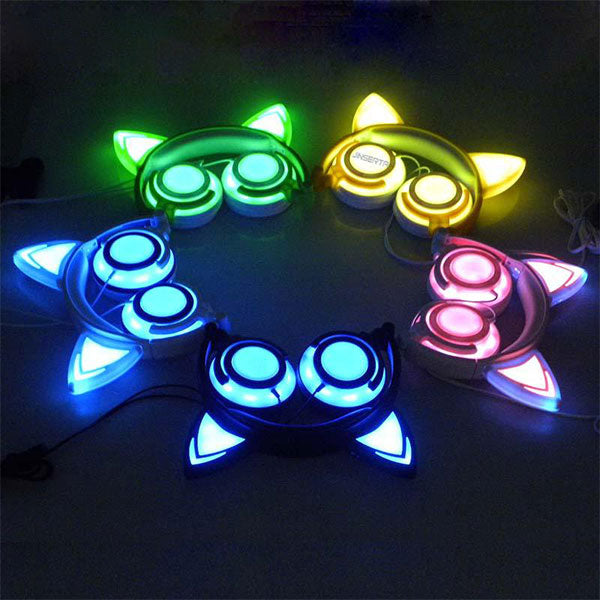 Cat Ear Gaming Headphone with LED Light
