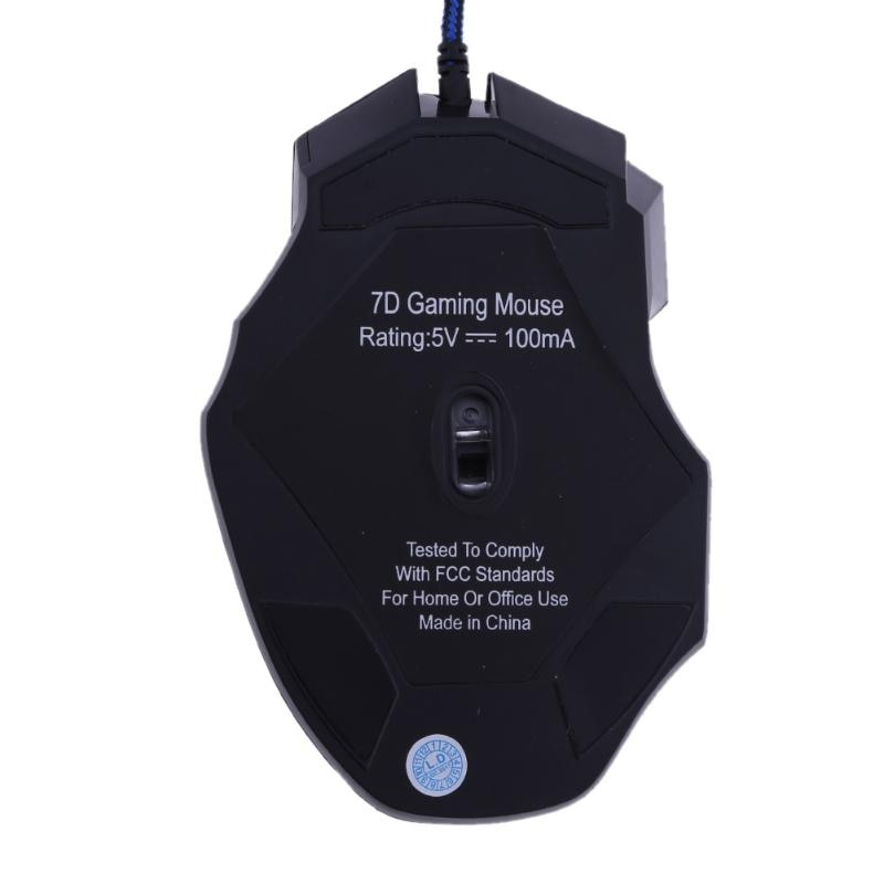 Ejder 7 Buttons Gaming Mouse - 5500 DPI