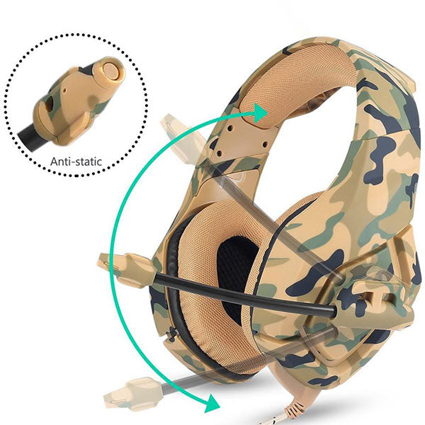 Legion Camouflage Gamer Headphones with Mic